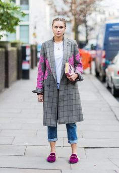 16467514b1 Flipboard: Who What Wear; 12 Pin worthy 2017 London Fashion Week looks,  article by Elinor Block, street style, getty images, posted by jazzythoughts