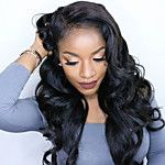 18inch Medium Brown #4 Lace Front Wavy Human Hair Human Hair Lace Front Wigs 2017 - $145.44