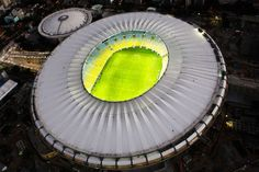 The iconic Maracanã stadium in Rio hosts the Opening Ceremony of the first Olympic Games held in South America