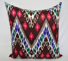 20 x 20 ikat pillow cover Decorative Pillows Accent by SilkWay, $15.89