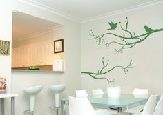 Bird wall decal two birds on tree wall decal bird Bird Wall Decals, Sticker Mural, Kids On The Block, Two Birds, Tree Wall, Aud, Wall Decor, Dessert, Gift Ideas