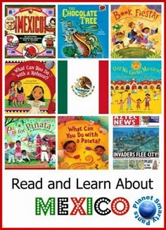 Mexico books and activities for kids - from preschool age to upper elementary school. Suitable for a Mexico unit study or for celebrating Cinqo de Mayo, Hispanic heritage, or Day of the Dead with kids. Mexico For Kids, Mexico Crafts, Around The World Theme, Elementary Schools, Upper Elementary, Elementary Spanish, Hispanic Heritage Month, Preschool Age, Teaching Spanish