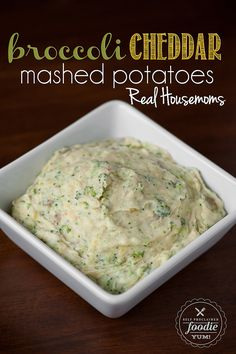 Broccoli Cheddar Mashed Potatoes | Real Housemoms