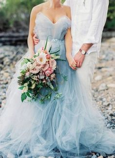 38 Colorful Non-White Wedding Dresses | Wedding Decor Ideas