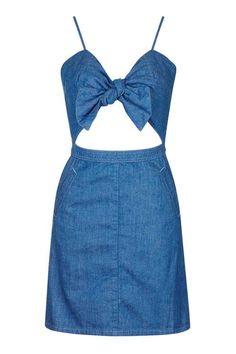 MOTO Bow Front Dress