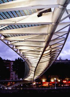 Campo Volantin Footbridge  Bilbao, Spain  Santiago Calatrava
