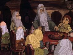 The cartoon I saw when I was a little girl.  It's when I first fell in love with The Hobbit
