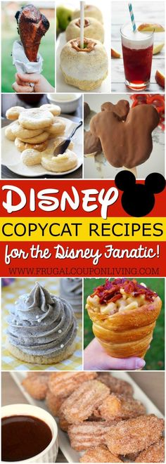 Take Disney home with theseCopycat Disney Recipes on Frugal Coupon Living. Recipes for the Disney Fanatic and those that wish they were still on vacation!