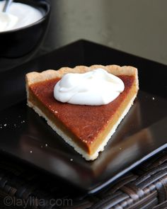 Laylita's Recipes' Candied Pumpkin Tart