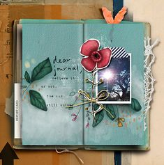 Dear Journal (Kit + Qps) by Li Li Wee I am enough (Papers) has already font: 1942 report photo: mine Be Still, Journal, Digi Scrap, Digital Scrapbooking, Art, Artsy, Art Journal