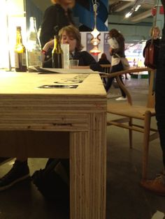 Inspiration comes when you least expect it. I was in London last year for 100% Design. There were tons of beautiful things, but the plywood table that Carl Hansen built for their display (below) stuck with me. I wanted to copy it for my own dining table some day. That day finally arrived.