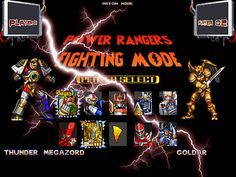 power rangers the fighting edition mugen