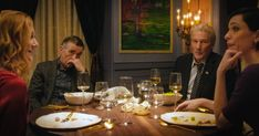 """The Dinner"" movie still, L to R: Laura Linney, Steve Coogan, Richard Gere, Rebecca Hall. Richard Gere, Parents Meeting, Rebecca Hall, Laura Linney, Latest Video, Cinema, Dinner, Movies, Man Cave"