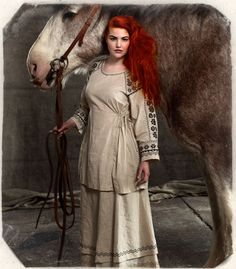 with the horse. Mature Fashion, Timeless Fashion, Moderne Outfits, Gudrun, Swedish Design, Models, Colourful Outfits, Ethnic Fashion, Winter White