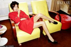 Alexa Chung shows off her amazing legs in Sixties photoshoot Ellen Von Unwerth, Alexa Chung Street Style, Red Trench Coat, Signs Of Anxiety, Sixties Fashion, Women Legs, Nice Legs, Harpers Bazaar, Stylish Girl