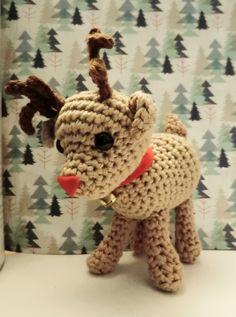 Lovely Little Reindeer - Free Amigurumi Pattern here: http://amigurumibarmy.blogspot.com.es/2014/12/advent-calender-day-twenty.html?spref=pi
