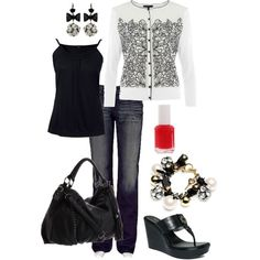 Black and White ..... with a dash of red!