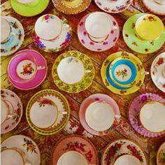 teacup display tea p