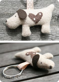 sweet dog keychain | handmade by me design by me | countrykitty | Flickr