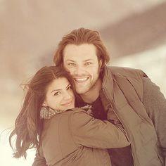 Jared and Genevieve ... #Supernatural #MrAndMrsAdorable #SPNFamily