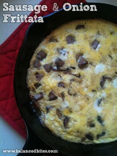 Easy Recipe: Sausage & Onion Frittata