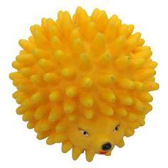 Boss Pet 51320 Vinyl Hedgehog Dog Toy, Assorted Colors, Yellow