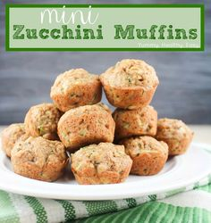 Mini Zucchini Muffins - the EASIEST way to get kids to eat their veggies! SO trying this!