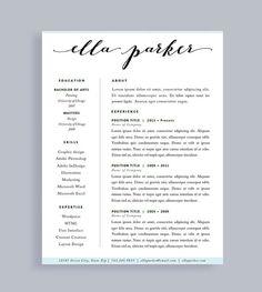 30 free beautiful resume templates to download cv pinterest