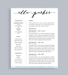 resume template made to order header instant download for word and pages