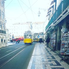 Follow that Yellow Tram. Now an essential part of Lisbon's life, the iconic trams are, actually, of American origin. They're travelling through streets and corners of Lisbon since 1914. #history #transport #culture #lisbontrams #lisbon #lisbontailoredtours #lisbonwithpats