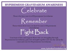 Hyperemesis Gravidarum Awareness Month October!