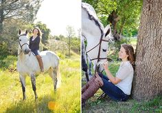 Girls Senior Picture with horse Ideas | high school senior portraits - a girl and her horse