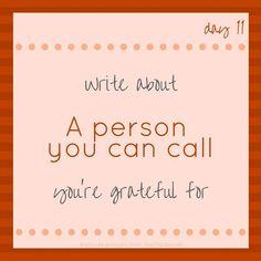 #30DayGratitudeChallenge - A person you can call http://ift.tt/2fIBF1L