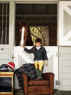 Ralph Lauren: Jumpstart your back to school shopping with our equestrian-inspired collection from RL girls Horse Girl, Horse Love, Pretty Horses, Equestrian Chic, Equestrian Fashion, Boys And Girls Clothes, Ralph Lauren Kids, English Style, English Uk