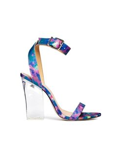 d2115161ef1e68 ASOS HUNTINGTON Heeled Sandals in Floral Multi  76.22 - Printed