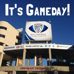 Sun Devil Stadium wore it's PAC-12 Costume for the Championship game day! Looks great!