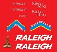 Raleigh Racing Criterium Decals transfers set