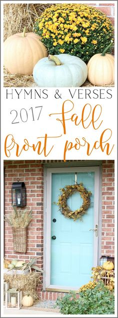 Hymns & Verses Fall Front Porch