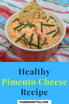 Pimento cheese is a delicious recipe from the South. You Brew My Tea has compiled 8 fat-free and low-fat pimento cheese recipes, all healthy! We show you the many different ways you can eat this cheese. Some recipes come with mayonnaise others without, for our spicy-food lovers you get to add jalapenos to this yummy dairy dish. Because they are fat-free or low-fat you are supporting your health-related goals. Learn more… #pimentocheeserecipe #healthypimentocheese #fatfreepimentocheese