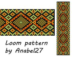 Bead loom pattern  Square stitch pattern bead by Anabel27shop