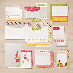 Seasonal Snapshot Project Life Card Collection - by Stampin' Up! EXCLUSIVE to Stampin' Up! Use with Seasonal Snapshot Accessory kit to make fabulous holiday memory books and projects / #PLxSU #Projectlife #scrapbooking Fall Autumn School Thanksgiving Christmas Snow