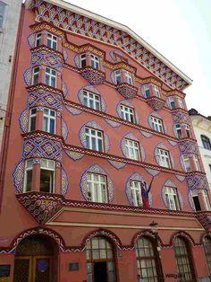 The former Cooperative Bank, Art nouveauin Ljubljana (Slovenia).