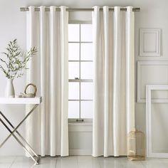 west elm white window panels