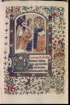 Bodleian, Ms Canon. Liturg. 92, fol. 26r, Flandres (Hainaut ?), Heures à l'usage de Paris, c. 1430-1440, texte : Matines (Heures de la Vierge)