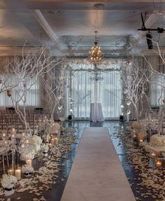 Glamorous wedding ceremony idea; via Stems Floral Design Productions