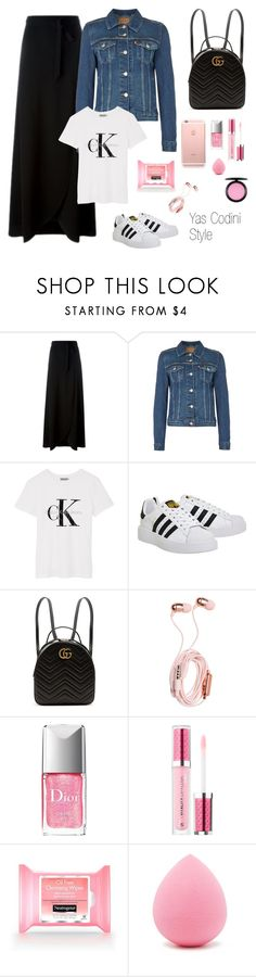 """""""13.9.17"""" by yascodini on Polyvore featuring moda, Theory, Levi's, Calvin Klein, adidas, Gucci, Christian Dior, Neutrogena y Forever 21"""