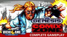 Comix Zone (Mega Drive) - Complete Gameplay #viciogame  http://www.youtube.com/watch?v=JFwMJLNAsk8