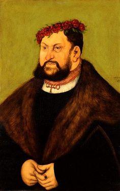 John the Constant, Elector of Saxony 1526 (Lucas Cranach the Elder) (1472-1553) Staatliche Kunstsamlungen Dresden, Gemäldegalerie Alte Meister, 1908B