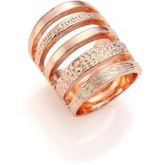 Pamela Love Single Cage Rose Goldtone Ring ($285) ❤ liked on Polyvore featuring jewelry, rings, apparel & accessories, rose gold, stackable rings, rose gold tone jewelry, pamela love, pamela love rings and rose gold tone rings