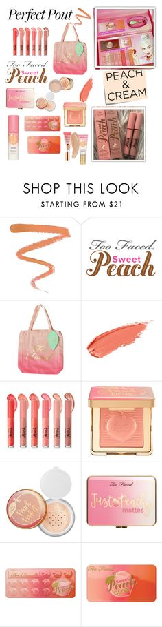 """Sweet peach make up"" by arianak16 ❤ liked on Polyvore featuring beauty, Ellis Faas, Post-It, Too Faced Cosmetics, Sephora Collection, Just Peachy and peachlipstick"